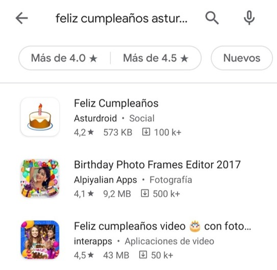 Apps de Imágenes de Feliz Cumpleaños