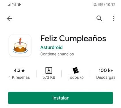 aplicacion para imagenes de cumpleaños
