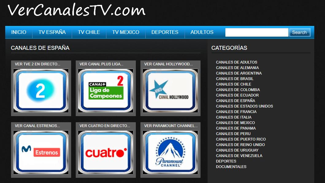 canales españoles de vercanalestv